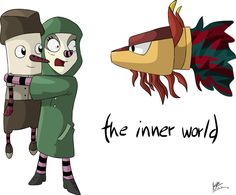 Laura and Robert from the game The Inner World