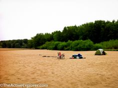 Sandy Camping on the Wisconsin