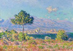 Antibes, vue du plateau Notre-Dame (C Monet - W 1171),1888.