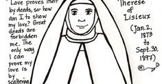 Download a coloring page/paper doll of Saint Therese of Lisieux.  And don't forget to download her accessories !