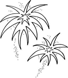 Fireworks Coloring Pages Holidays ColoringPedia Paper Images