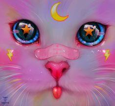 Moonkit 2 by taozipie on DeviantArt Art Anime, Anime Art Girl, Dibujos Tumblr A Color, Digital Art Girl, Pretty Art, Aesthetic Art, Cartoon Art, Cute Drawings, Cat Art
