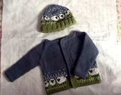 Baa-ble cardigan to go with Baa-ble hat K