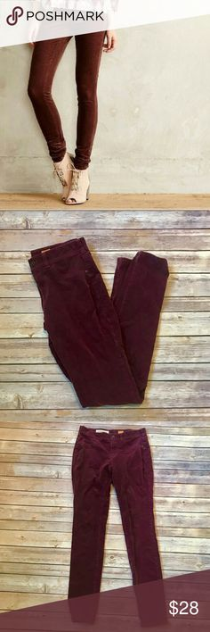 "Anthropologie Pilcro & Letterpress Corduroy Pants Anthropologie Pilcro & The Letterpress Corduroy Pants.   ▪️Women's Size  28▪️Excellent Used Condition ▪️Inseam 30"" Anthropologie Pants Skinny"