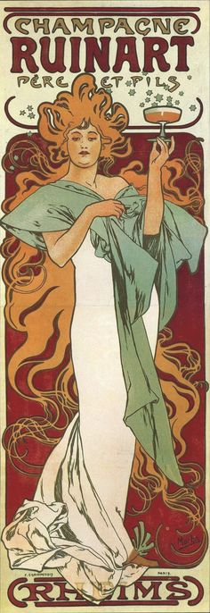 1896 Poster for 'Champagne Ruinart'