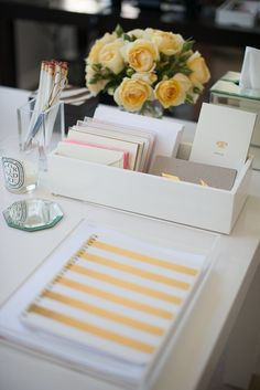Inside This PR Maven's Stylish Office ( tray used to contain notes etc.)