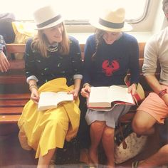 Sweaters, skirts and fedoras. Perfect spring look. J.Crew style