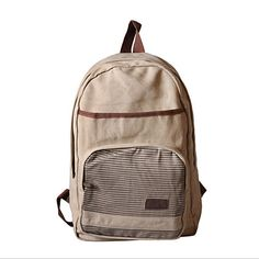 0127adb7f8e5 Купить товар Женщины полосатый холст рюкзак мешок школы для мальчика  девушка свободного покроя дорожные сумки высокое качество 2015 модный дизайн  бесплатная ...