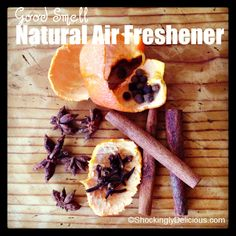Natural Air Freshener on Shockingly Delicious, Recipe here: http://www.shockinglydelicious.com/?p=11756