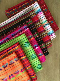 colorful mexican fabric.
