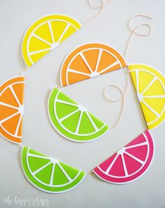 Everyone needs this Colorful Summer Citrus Banner! It's perfect for decorating for summer or you could use if for a fun summer party! Summer Crafts, Fun Crafts, Paper Crafts, Board Ideas, Diy Craft Projects, Cricut Ideas, Sewing Hacks, Summer Time, Banners