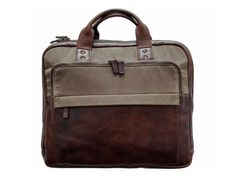Jay Briefcase, Canvas & Leather