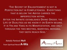 from Spiritual Novel Ama by Nuit, About Enlightenment