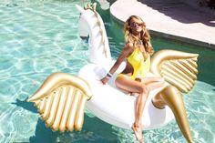 Sommerspaß - Summertime - Jasonwell®Riesiger aufblasbarer Pegasus Pool Floß mit speziellen schnell Ventilen