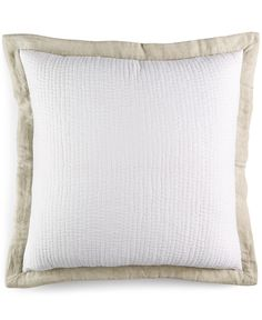 Hotel Collection Linen Natural Quilted European Sham