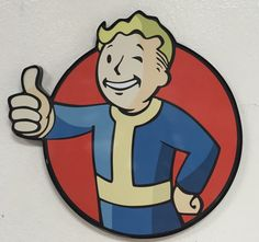 This is a Fallout Pipboy wall sign. This sign measures 17 inches x 18 inches inches and 1 inch in depth. It is made of plastic and has been