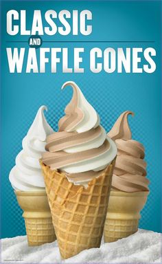 Are you a classic or a waffle cone kinda person? #Checkers #Rallys #IceCream #cones #waffle