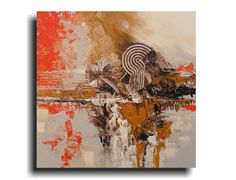 Abstract Wall art Texture Orange Brown Fine by skyetaylorgalleries, $299.00