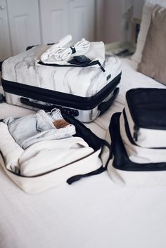As someone who has been a chronic over-packer over the years, Ive got packing for my travels down to a science. Starting with Powerpoi. Luggage Sets, Travel Luggage, Travel Bags, Packing Tips For Travel, Travel Essentials, Packing Cubes, Travel Aesthetic, Luxury Bags, Baggage