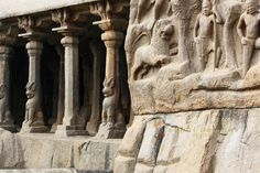Carved out of an immense rock, this wondrous feat of stone carving is known as Arjuna's Penance found in Mahabalipuram also known as Mamallapuram.