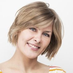 Check out these pictures for 5 different short thick hairstyles! From very short pixies to medium short bobs, one of these looks will work for you!