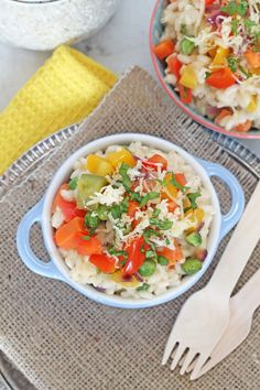 15. 20-Minute Rainbow Veggie Risotto #greatist http://greatist.com/eat/healthy-risotto-recipes-that-wont-leave-you-stirring-forever