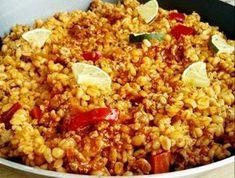 Egy finom Bulgur paradicsomos darálthússal ebédre vagy vacsorára? Bulgur paradicsomos darálthússal Receptek a Mindmegette.hu Recept gyűjteményében! Diabetic Recipes, Meat Recipes, Healthy Recipes, Crossfit Diet, Just Eat It, Gnocchi, Fried Rice, Nutella, Quinoa