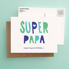 Father Card / Postcard // BEST Dad ...so far (Available in EN & FR)