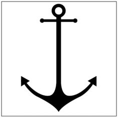 Anchor stencil / symbol / template for tattoo