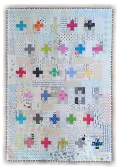 Time for a tutorial don't you think!! Have had requests for the dimensions on the Mini Plus Friends Quilt we made for Krista Hennebury and since you asked so nice... Here it is! Cutting for one plu...
