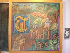 Chalkboard Drawing - The Middle Ages