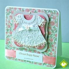 Card: Christening card for a girl