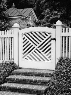Garden Gate - Menzer McClure Architects Garden Doors, Garden Gates, Fence Gate, Fences, Outdoor Rooms, Outdoor Living, Architects, Nest, Gardens