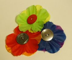 Easy Button and Flower Pins to make