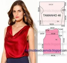 Una bonita blusa para el verano.  #blusas #outfits #patronesdecostura #moda #costura #coserfacilymas #cosermola #nuevoproyecto…