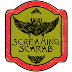 """Same as the other Screaming Scarab label but this one has my brand, """"Mystery House Road"""" alongside the the gold portion of the label..you know...if you want to help spread the word about the upcoming """"Mystery House Road"""" YouTube series and Halloween brand I'm creating.  Have a great Halloween!"""