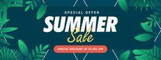 Special offer summer sale banner templat... | Premium Vector #Freepik #vector #banner #frame #sale #abstract Summer Banner, Sale Banner, Banner Template, Summer Sale, Banner Design, Green Leaves, Templates, Frame, Picture Frame