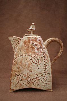 Ceramic Pottery Teapot Set