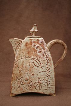 Ceramic Pottery Teapot Set by CaliforniaSoulshine on Etsy, $125.00