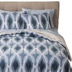 Threshold™ Ikat Print Comforter Set - Blue