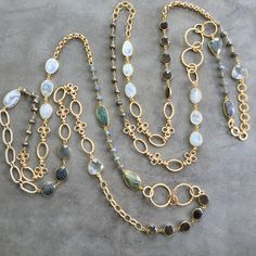 Bestselling gemstone and gold chain necklaces. Wholesale or retail. Lisajilljewelry@gmail.com