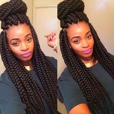 @missaudreybee beautiful jumbo braids hair done by @nickelinn