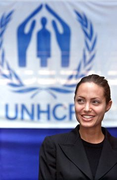Angelina Jolie, UNHCR Goodwill Ambassador, inspires me for her humanitarian engagement for refugees and internally displaced persons. She has been able to bring a lot of attention to the cause of refugees around the world.