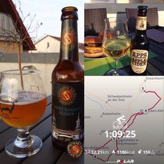 After nice ride, cleaning up the terrace and enjoy the evening with my wife and some nice drinks!!!! #PolarV800 #cycling #giant #bier #schoppebräu #cider #evening
