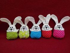 Kuscheltiere - Hase im Ei, mini - ein Designerstück von Nachtfalter-Lydia bei…