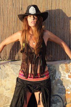Falda Free Love Indian en negro – Ibiza Trendy   Tienda online   Online store