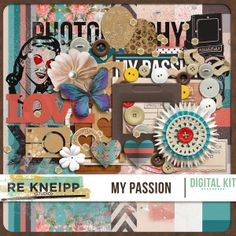 My Passion What is your passion? Well, we all have different passions, right? Our families, pets, art, scrapbooking, photography, etc. I made this kit to help you to create with your passions. I made it with a photography touch, but it can be used for every kind of passion.  #theStudio #digiscrap #rekneipp