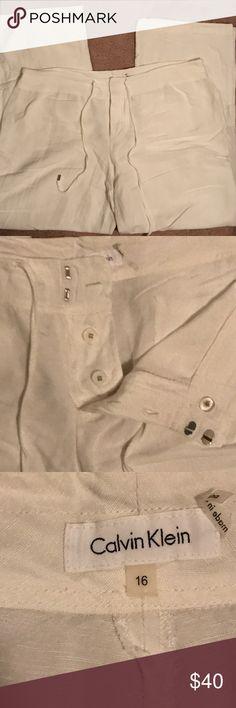 Calvin Klein Linen Pants Calvin Klein Linen Pants Size 16 Calvin Klein Pants Trousers