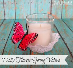 Doily Flower Spring Votive