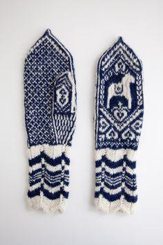 Beautiful hand knit mittens